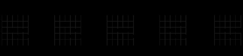 Bygg fire dominante septimakkorder fra 1 forminsket septim-akkord