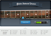 App for gehør av intervaller og hvor du finner igjen intervallene på gitarens gripebrett.